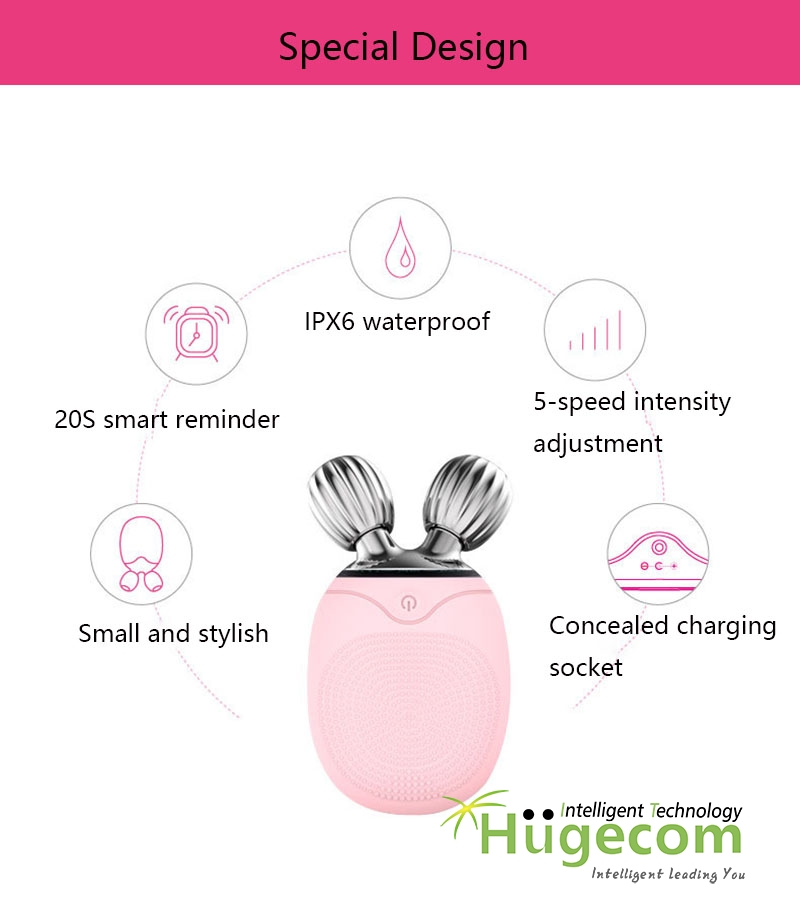 Silicone Brush Roller Mini Electric Roller Facial Cleaning